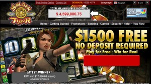 Number 2 Online Casino - Golden Tiger Casino Pic