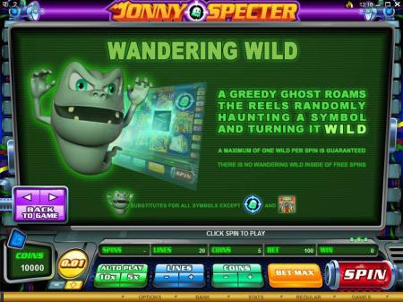 Johnny Specter Slots Ghost Busting Bonus Graphic