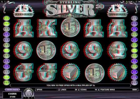 Sterling Silver 3D™ Slot Machine Game to Play Free in Microgamings Online Casinos